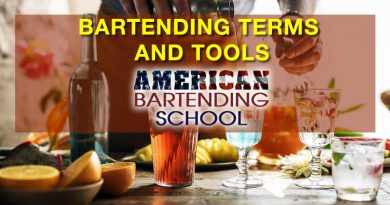 learn to bartend terms and bartendng tools